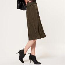 548da80b Mohito - Plisowana spódnica z jersey'u - Zielony
