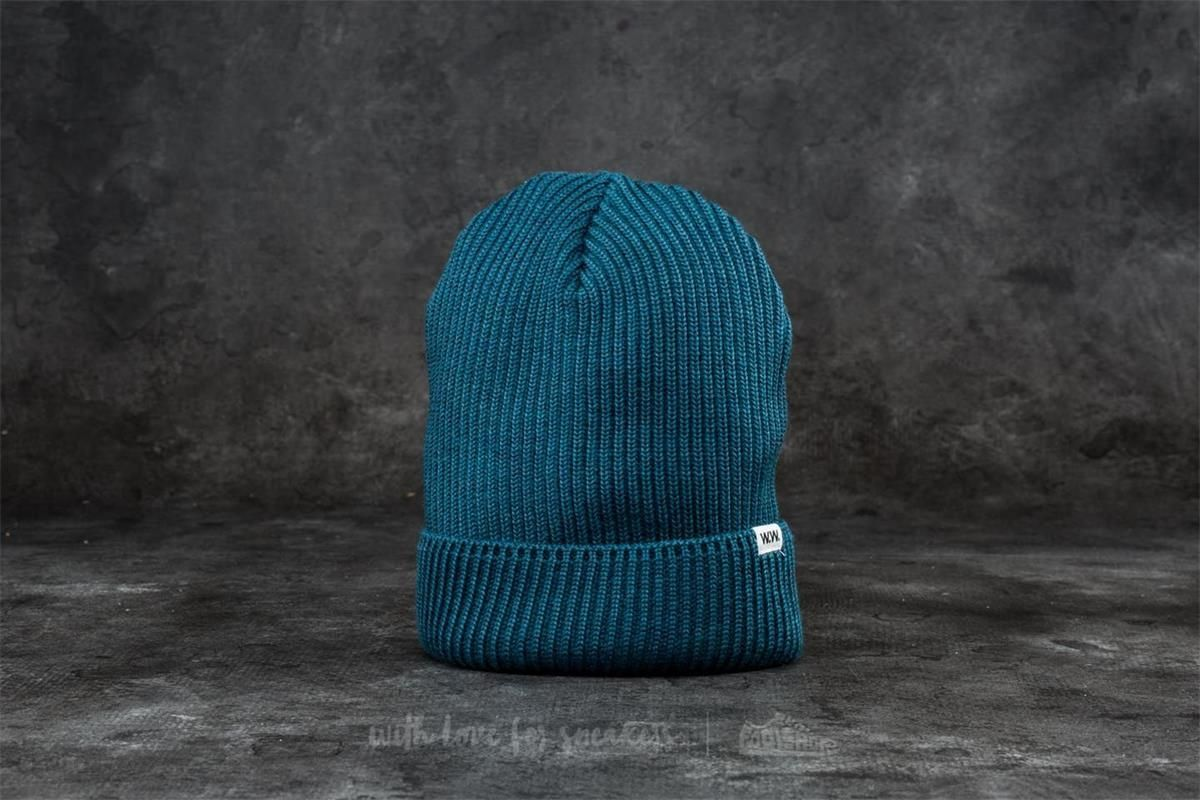 389763949 WOOD WOOD Henry Ribbed Beanie Dark Green