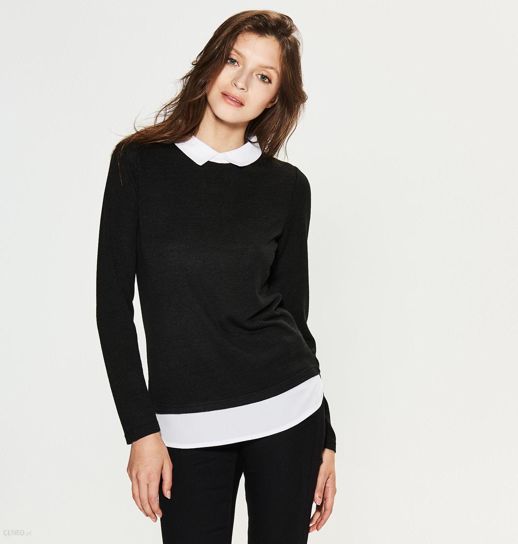 House Dwuwarstwowy sweter z kołnierzykiem Czarny