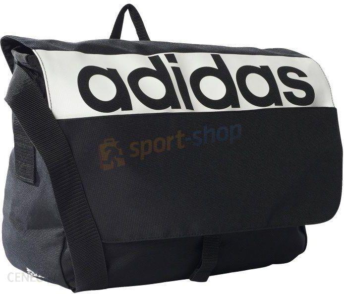 3030f4cc35691 Adidas Torba Listonoszka Linear Performance Messenger Bag 12L Czarnobiała - zdjęcie  1