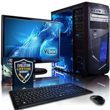 Amazon vibox VBX-PC-1528 zestaw Centre 10 54,6 cm (21,5 cala) Gaming Desktop PC (AMD A series A4 – 6300, 8 GB RAM, 1TB HDD, AMD Radeon HD 8370d, żaden