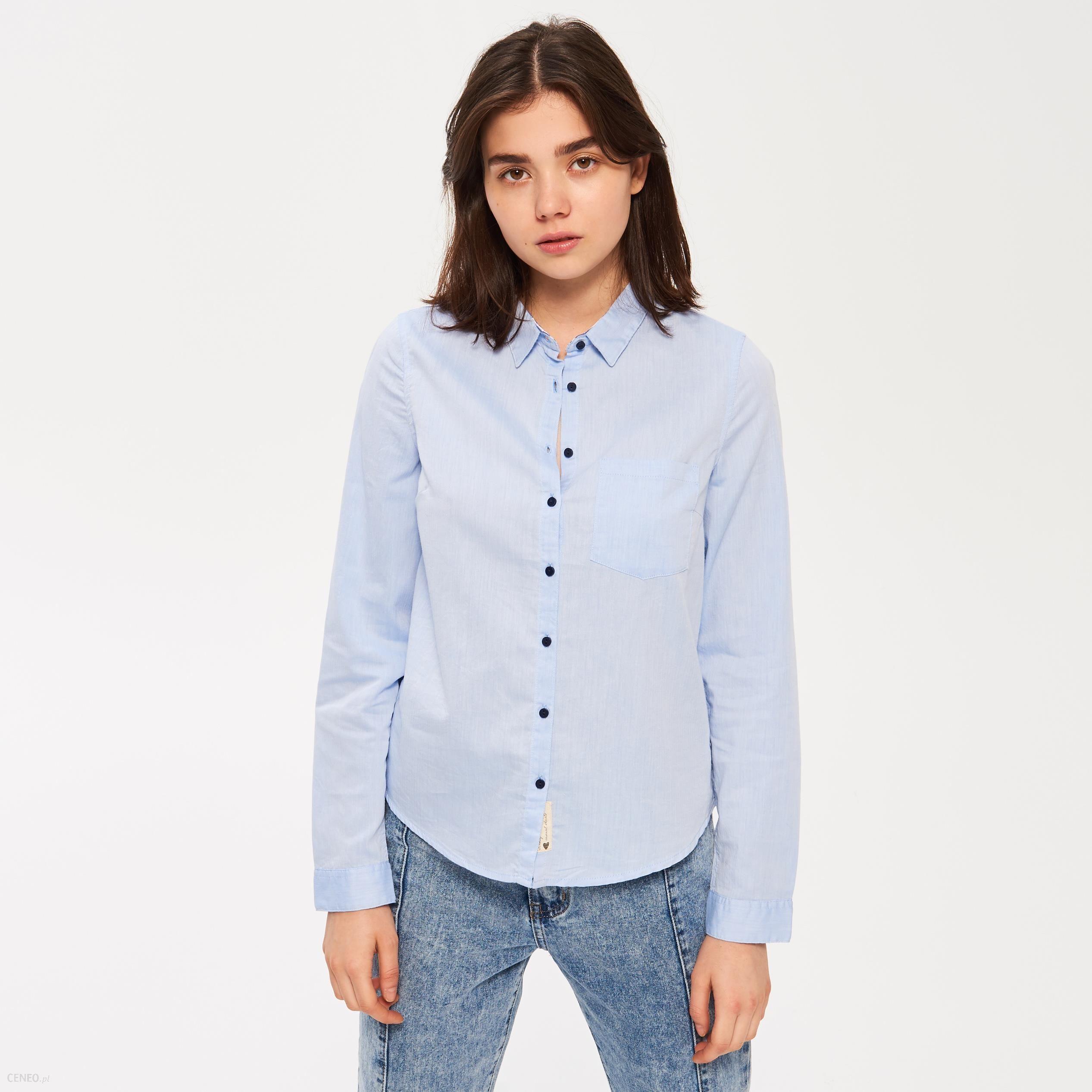 Sinsay Koszula z łatami na łokciach Niebieski Ceny i  2mPcs