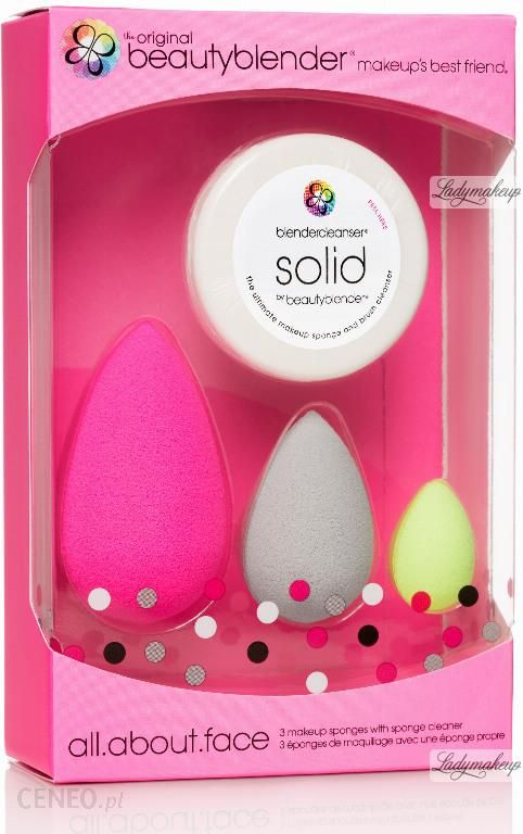 Beautyblender All About Face Makeup Sponges With Sponge Cleaner Zestaw 3 Gabek Do Aplikacji Kosmetykow Mydelko Solid Opinie I Ceny Na Ceneo Pl