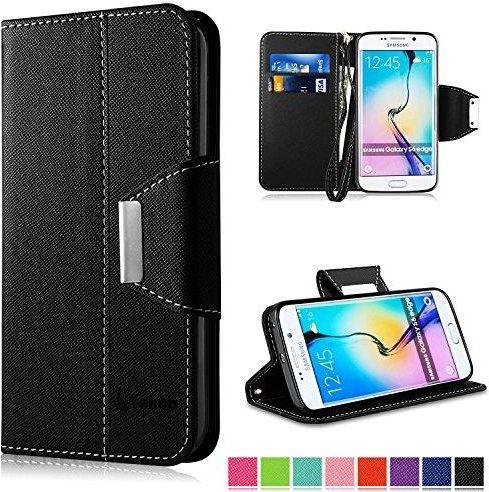 8a8f630756b202 Amazon Etui do Samsung Galaxy S6 Edge, Vakoo  Flip Case  S6 Edge Bookstyle