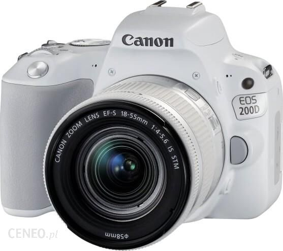 Lustrzanka Canon Eos 200d Bialy 18 55mm Ceny I Opinie Na Ceneo Pl