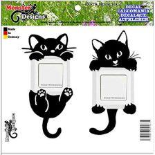 Amazon Koty Tatuaż Na ścianę Naklejka Na Włącznik światła Opinie I