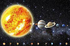 Amazon Great Art Plakat Na ścianę Z Motywem Kosmosu Układ Słoneczny Dekoracja 140 X 100 Cm Ceneopl