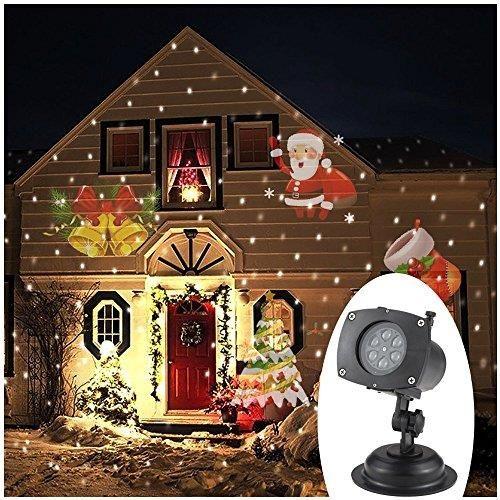 Amazon Projektor Tomshine Boże Narodzenie Oświetlenie Bożonarodzeniowe O 10 Kart Film Wzory Na Boże Narodzenie Party Ceneopl