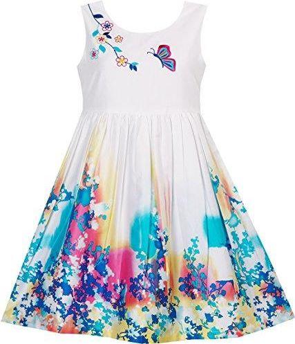 401160cb39 Znany Amazon Sukienka dla dziewczynki motyl ich wyszukiwanie kwiaty haft   RJ-08