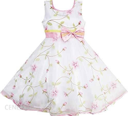 Amazon Sukienka Dla Dziewczynki Kwiaty I Liście Dziewiczych Dla