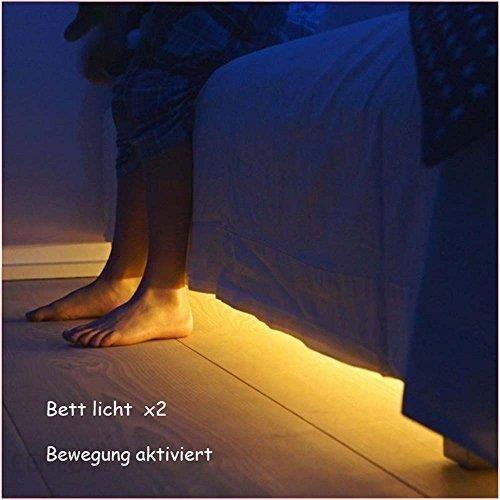 Amazon Jindia Oświetlenie łóżka Z Czujnikiem Ruchu Diody Led Ceneopl