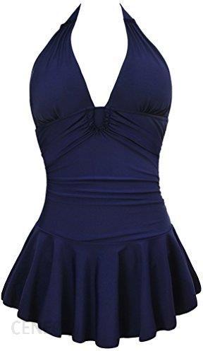 c064770f85c280 Amazon muxi Love damski retro pływania figurformend jednoczęściowy kostium  kąpielowy z spódnica sukienka tankini kąpielowy bikini