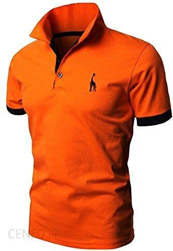 f466063578892 Amazon Męska koszulka polo koszulka z krótkim rękawem kołnierz M L XL XXL  glestore, pomarańczowy ,