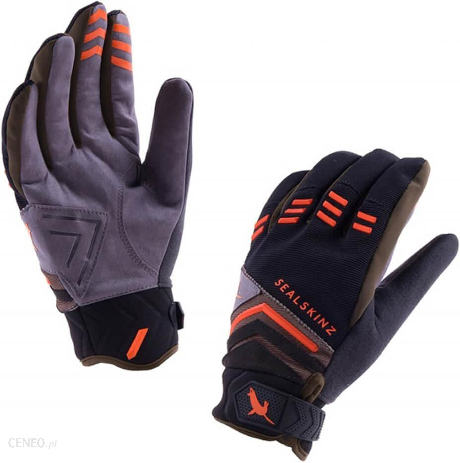 dfa978fe3f6750 Sealskinz Dragon Eye MTB Gloves - Black/Olive/Orange - XL - Black ...