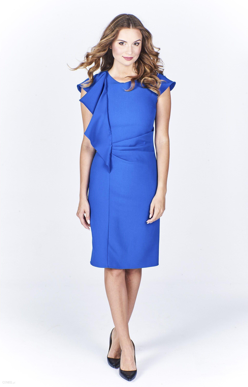 0f7025ee7da7d8 PtakModa - Wizytowa sukienka z efektowną falbaną MARTEX - Ceny i ...
