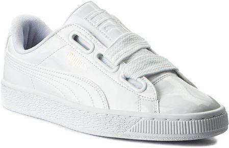new arrival f47a5 702b3 Sneakersy PUMA - Basket Heart Patent Wns 363073 02 Puma WhitePuma White  eobuwie