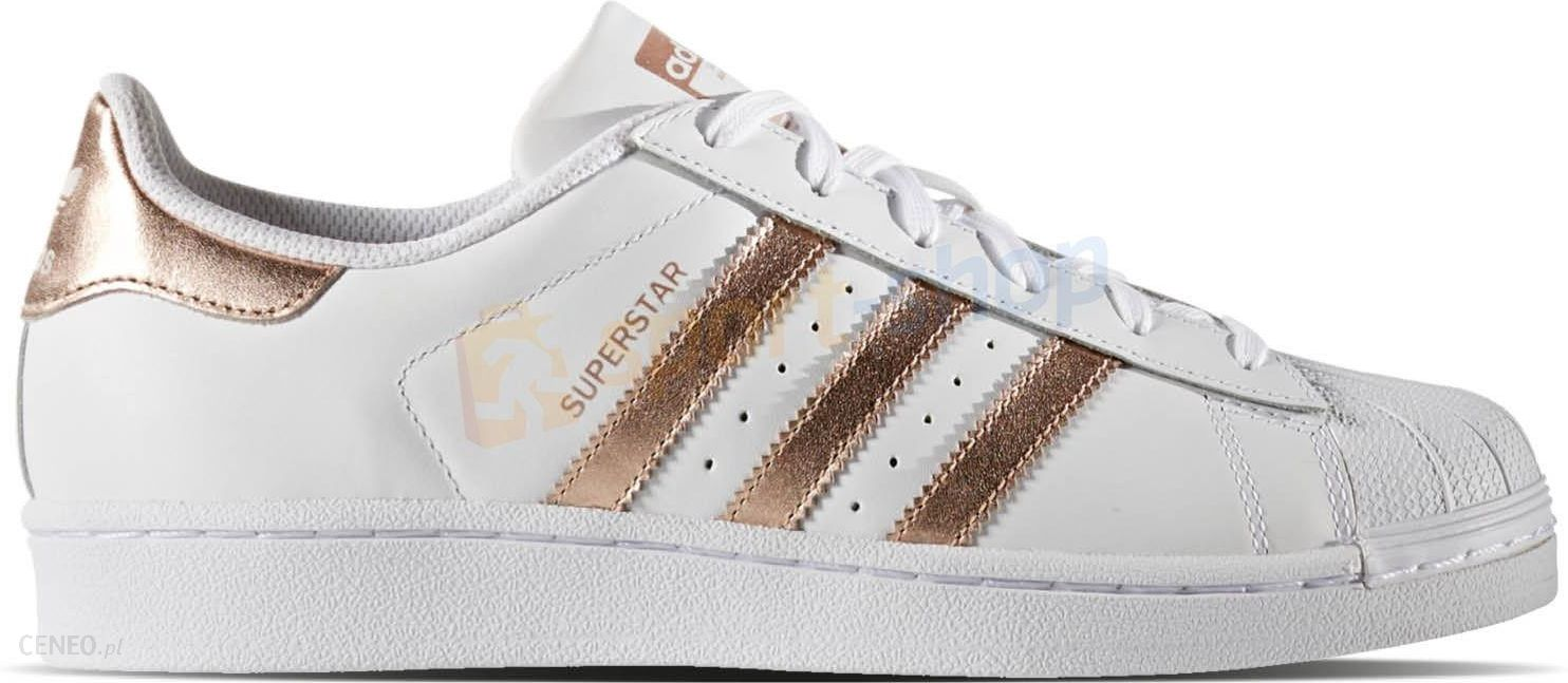 buty superstar adidas originals biało-złote