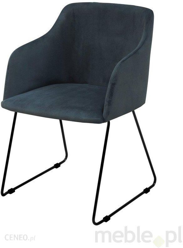 eea5bfdc3f00d Interstil Krzesło Casablanca Ciemnoniebieskie Skóra Ekologiczna 22256 16  (22256-16) - zdjęcie 1