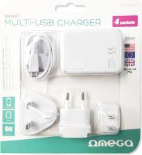 Ładowarka do telefonu Omega Ładowarka 4 porty UK 42674 Biały (OMCUSB4UEU) Opinie i ceny na Ceneo.pl