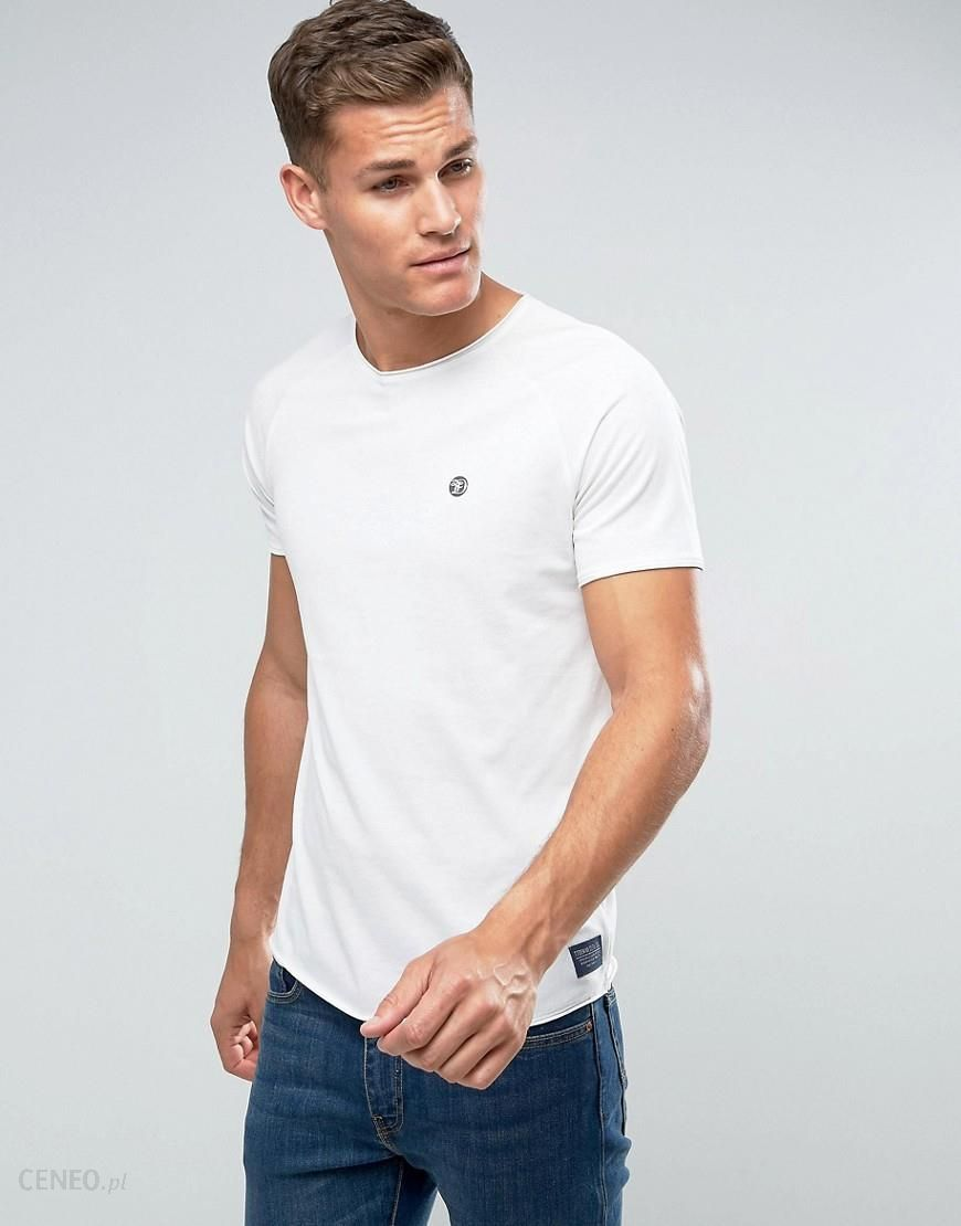 Tom Tailor Crew Neck T Shirt With Chest Print White Ceneo.pl