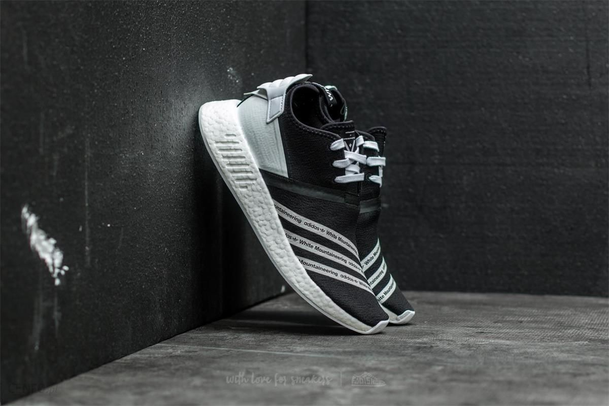 wholesale dealer 43d94 d15f5 adidas x White Mountaineering NMD R2 Primeknit Core Black  Ftw White -  zdjęcie 1