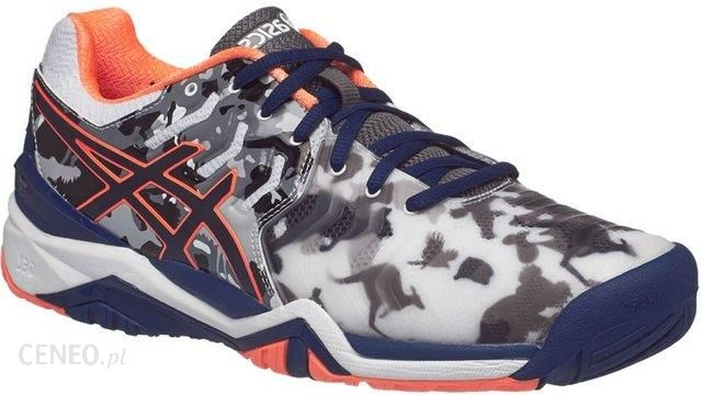 Asics Buty tenisowe Gel-Resolution 7 L.E. Melbourne white indigo blue hot  orange 12d9e8ac95d1e