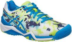 Asics Buty tenisowe Gel-Resolution 7 L.E. Melbourne white diva blue pistachio  E760Y0143 e8a9cecd79341