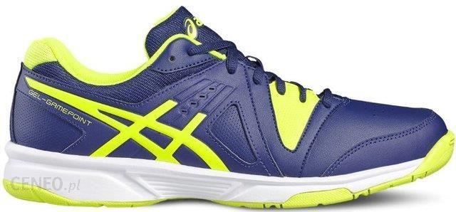 0b1ab036 Asics Buty tenisowe Gel-Gamepoint indigo blue/safety yellow/white E409L4907  - zdjęcie