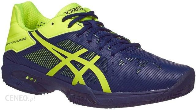Asics Buty tenisowe Gel Solution Speed 3 Clay indigo bluesafety yellow E601N4907 Ceny i opinie Ceneo.pl