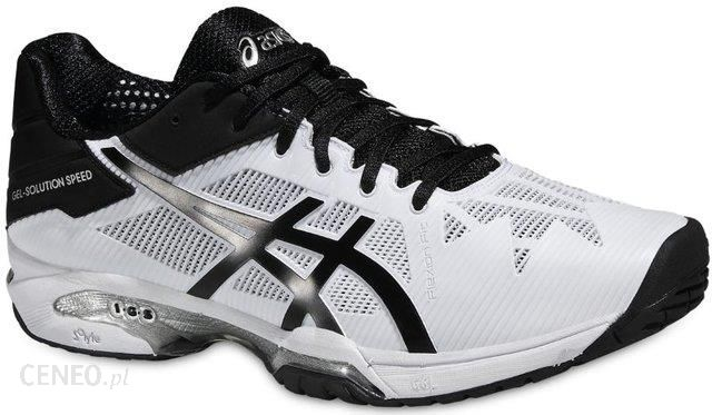 Asics Buty tenisowe Gel Solution Speed 3 whiteblacksilver E600N0190 Ceny i opinie Ceneo.pl