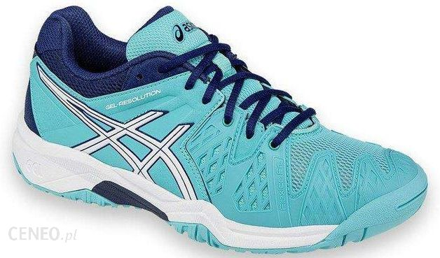 Asics Buty tenisowe Gel-Resolution 6 GS pool blue white indigo blue C500Y 32315e154215c