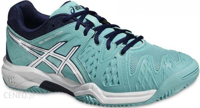 Asics Buty tenisowe Gel-Resolution 6 Clay GS pool blue white indigo blue 11d3995d95c97