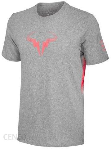 e962581d Nike Koszulka tenisowa Court Rafa Tee dark grey heather/light fusion red  871725063 - zdjęcie
