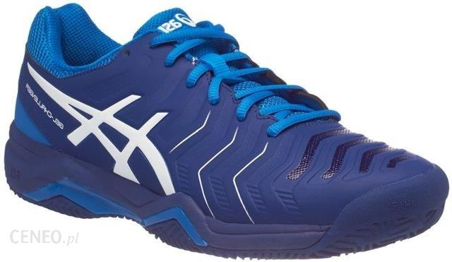 Asics Buty tenisowe Gel-Challenger 11 Clay limoges white directoire blue  E704Y4901 - 7c0e88b374eee