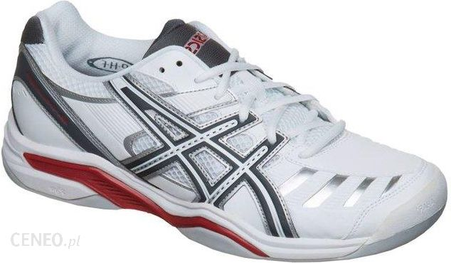 code promo 1b9f0 04c60 Asics Buty tenisowe Gel-Challenger 9 Indoor white/charcoal/red E326Y0174