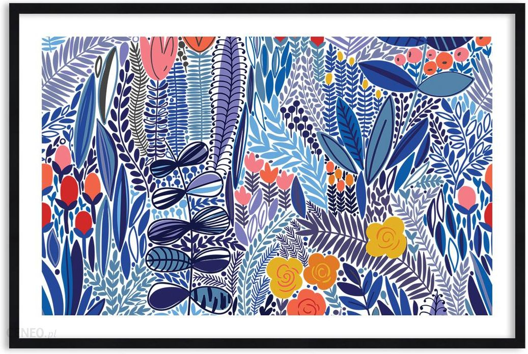 Obraz W Ramie Kwiaty Abstrakcja F1baa120x80 2944 Opinie I
