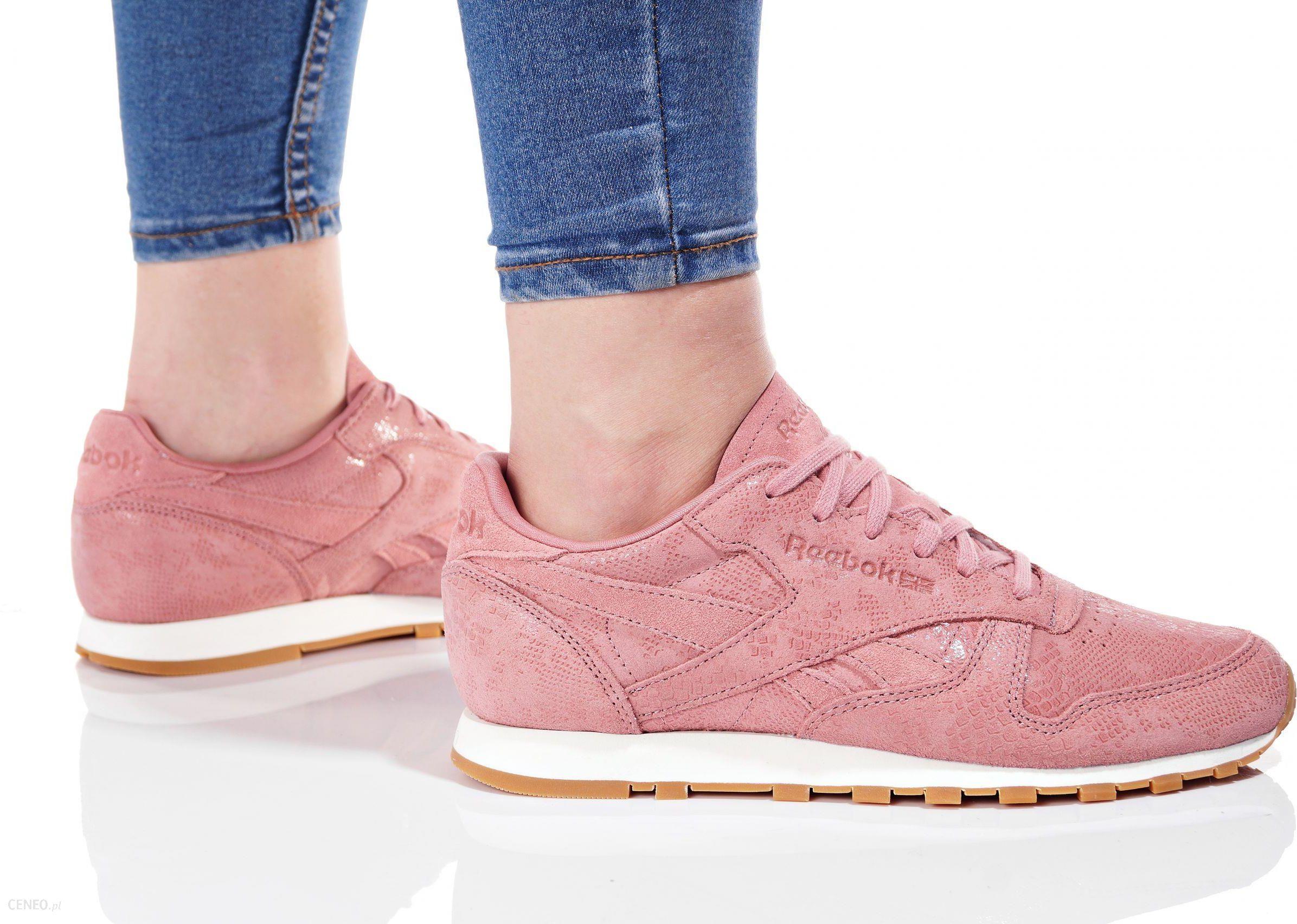 Buty damskie sneakersy Reebok Classic Leather Clean Exotics BS8226 RÓŻOWY