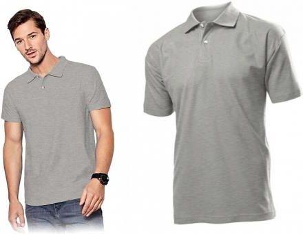 Męskie Szare Polo Stedman - Koszulka Polo ST3000 GYH - Ceny i opinie T-shirty i koszulki męskie LODY