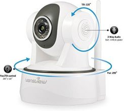 Amazon Wansview 1080P WiFi WLAN IP kamera do monitoringu, z funkcją  obracania i przechylania, gotowa do użytku zaraz po podłączeniu, z opcją  monitorow