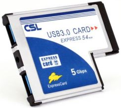 Amazon CSL – USB 3.0 Super Speed karta PCMCIA Express Card (54 mm/2 port/Windows 10) do notebooka laptopa | USB Hub Intern