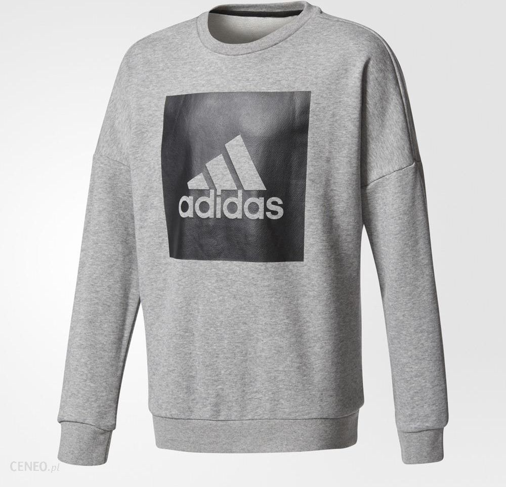 adidas Logo Crew Neck Sweatshirt Grey
