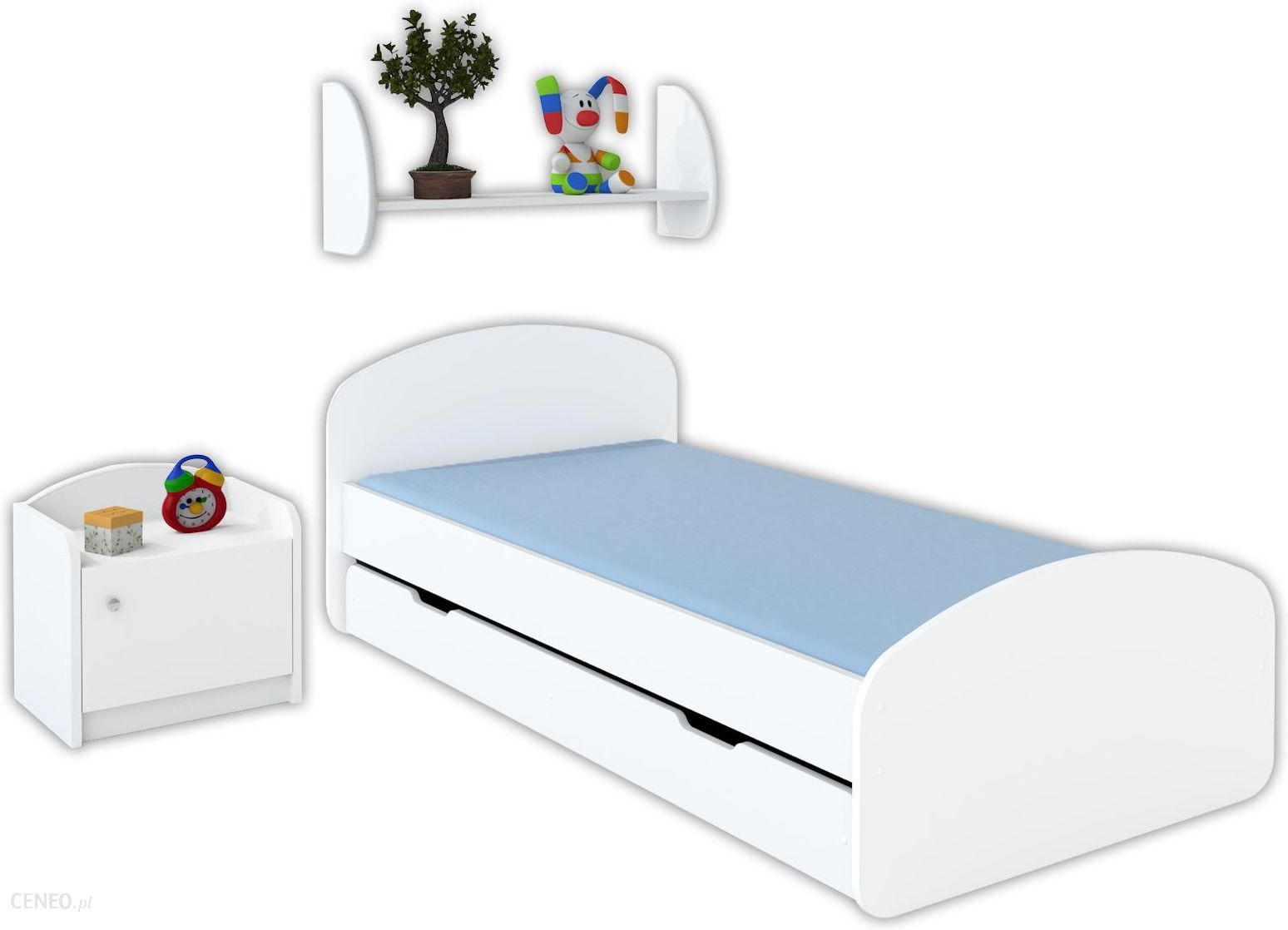łóżko Luna 180x90 Z Szufladą I Materacem