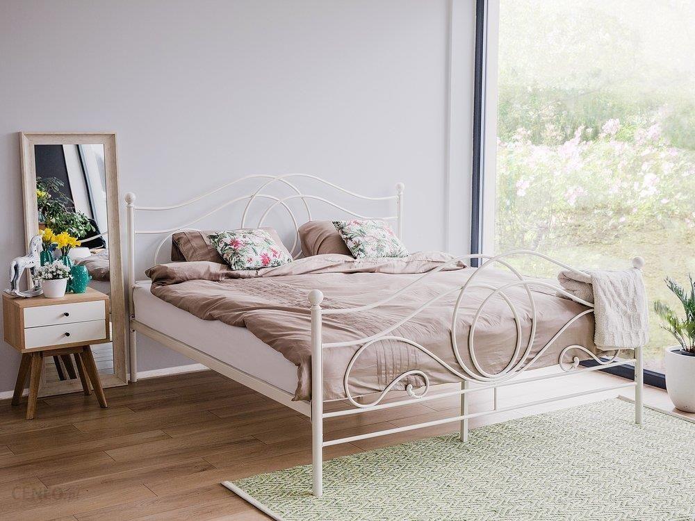 łóżko Metalowe Ze Stelażem 160x200 Białe Opinie I Atrakcyjne Ceny Na Ceneopl