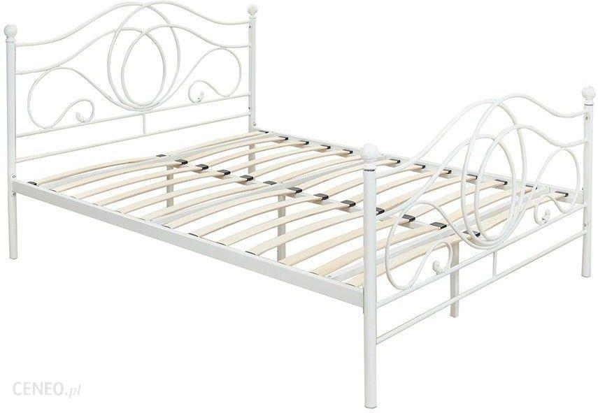 Lectus łóżko Metalowe 140x200 Białe