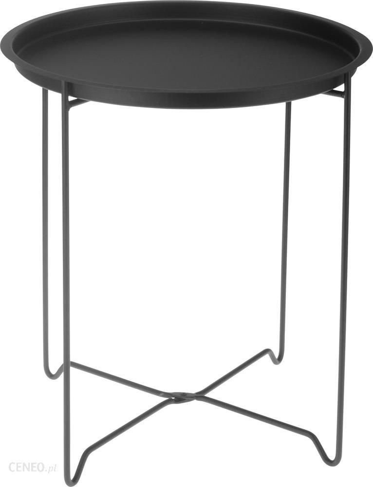 Okrągły Stolik Metalowy Składany Salon 128