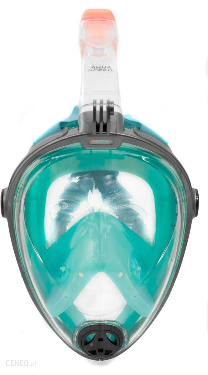 Spectra Maska do nurkowania pełnotwarzowa L/XL szaro-turkusowa