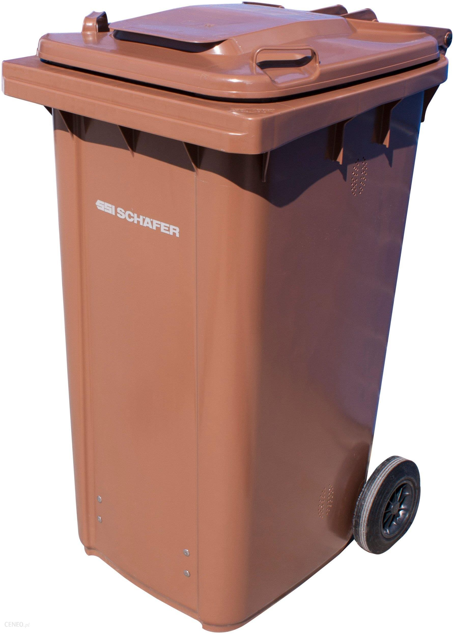 Ogromny Pojemnik na odpady Zielone Kubeł kosz Brązowy 240L - Ceny i opinie NB69