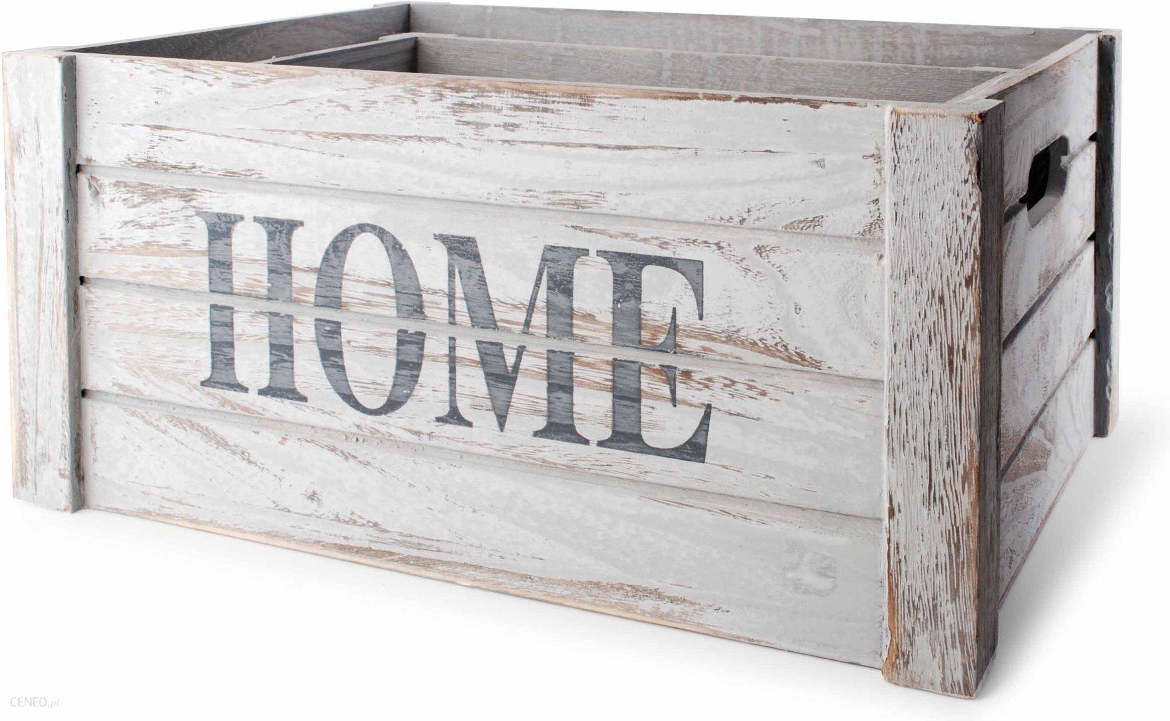 Komplet Skrzyń 3szt Skrzynki Drewniane Ozdobne Dom