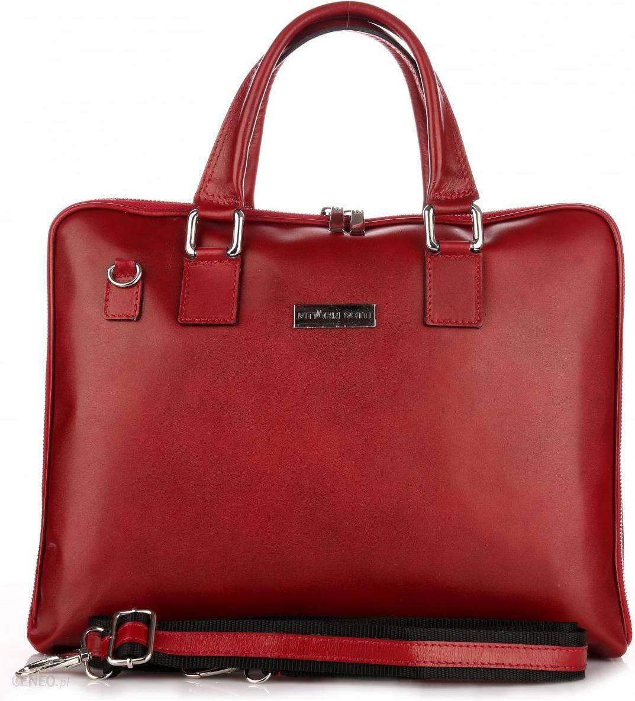 89d6c98734e68 Torebki Skórzane VITTORIA GOTTI Made in Italy Aktówka Damska A4 Czerwona  (kolory) - zdjęcie