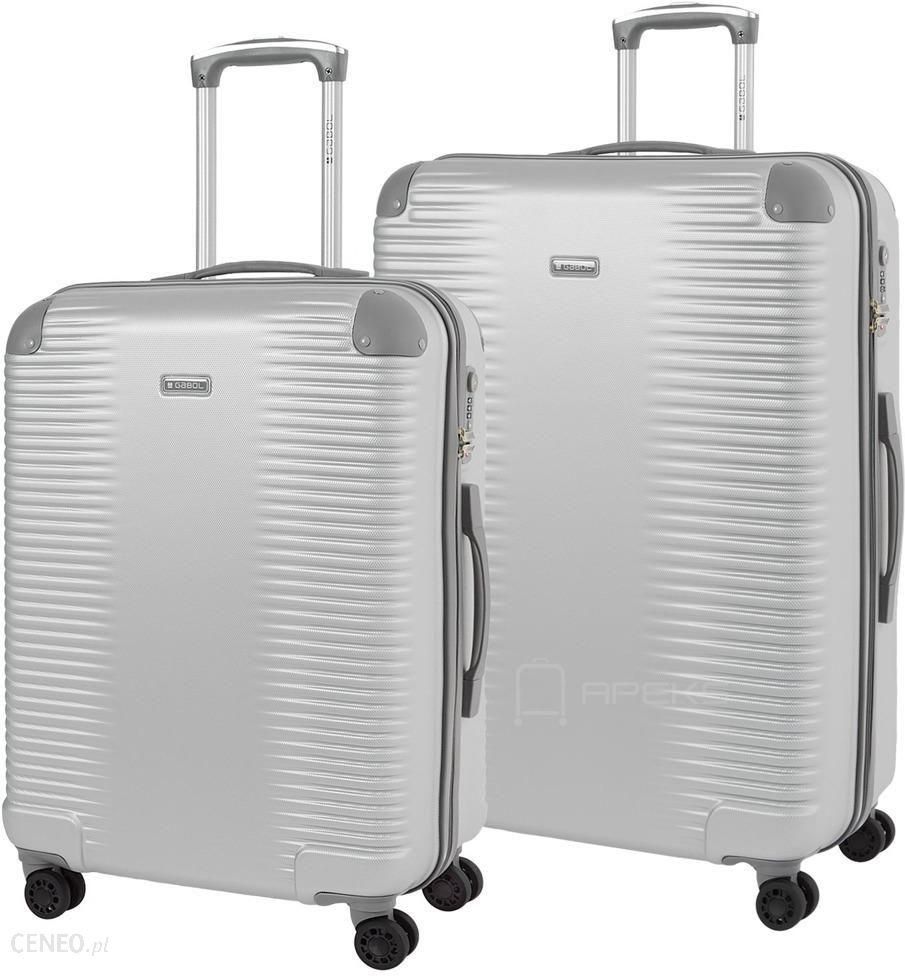 aa7c7b1a1c2bd Gabol Balance zestaw walizek / duża + średnia - Silver - Ceny i ...
